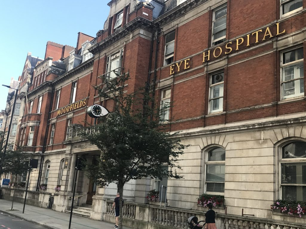 Part of the old Moorfields Eye Hospital site on City Road