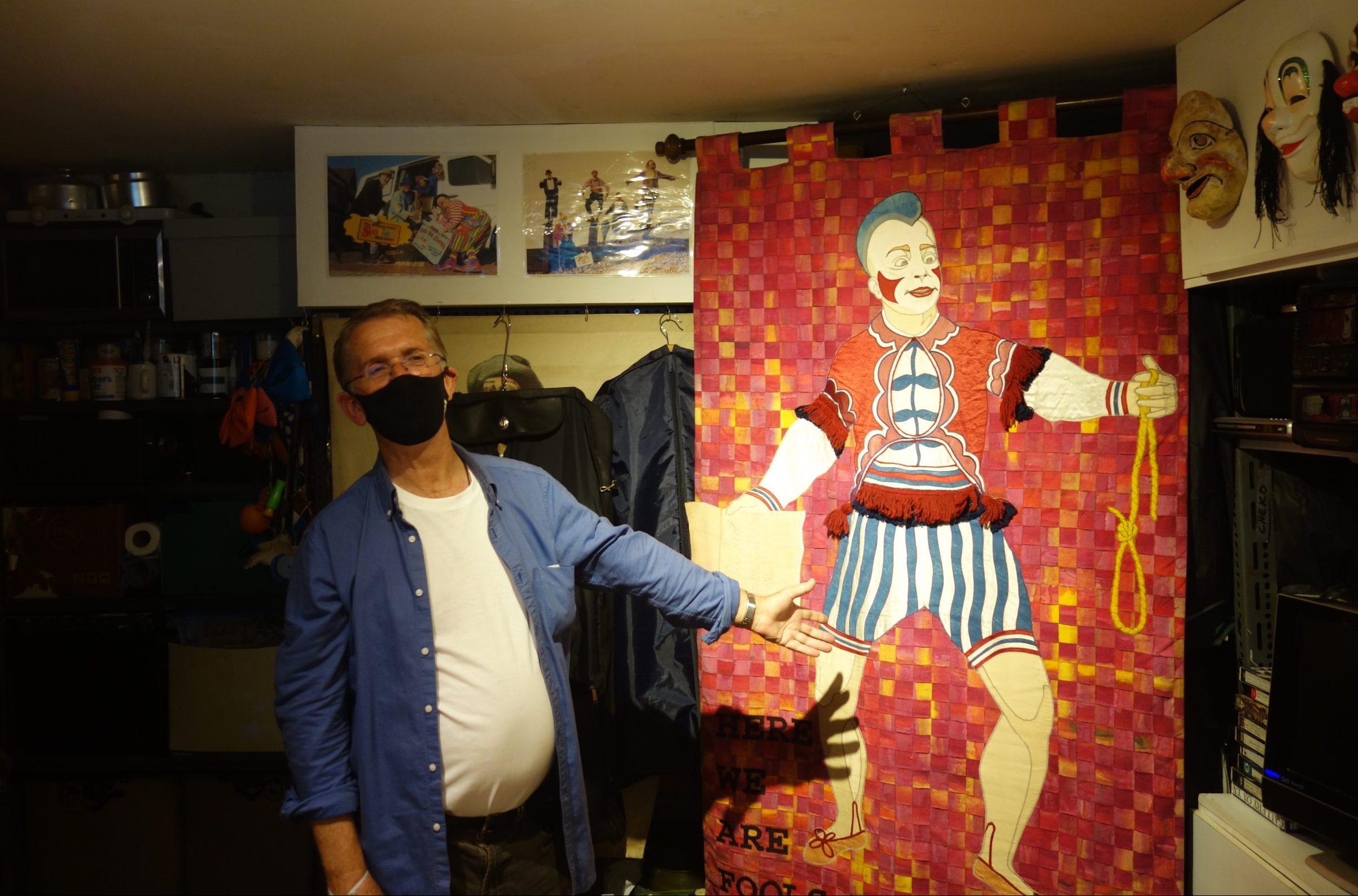 Clerkenwell's clown Mattie Faint getting into character CreditMattie Faint