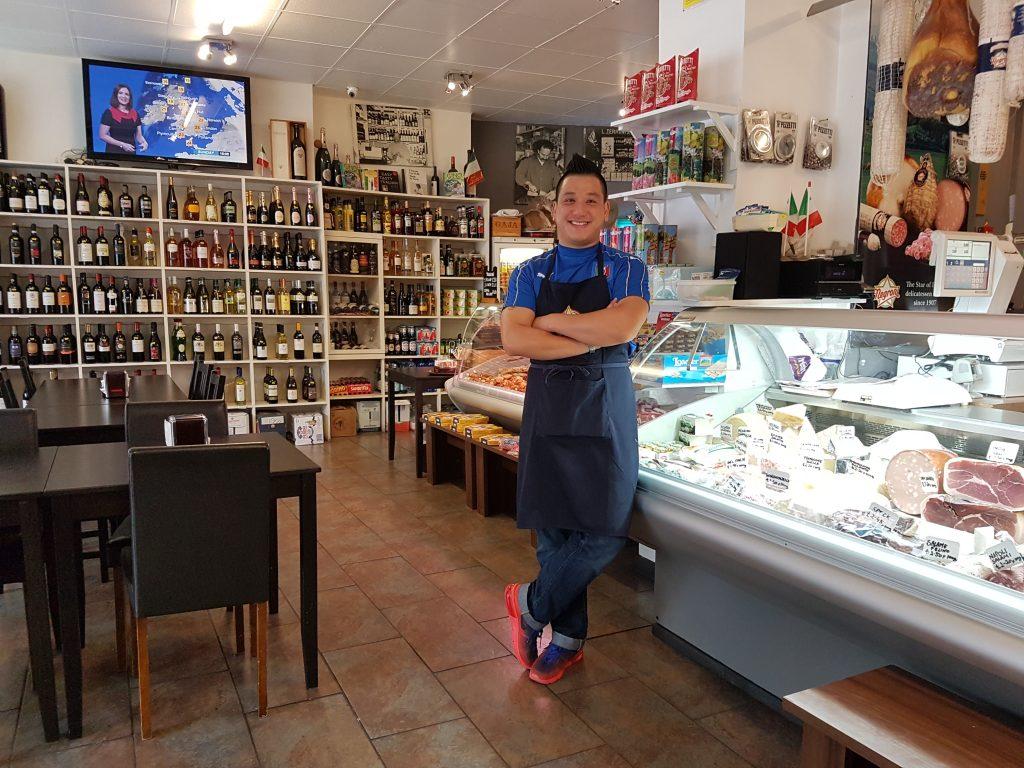 Singing waiter Alan Chan at Terroni's in Clerkenwell