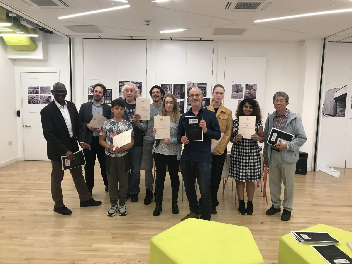 Olu Alake and the winners of the Clerkenwell Photography competition